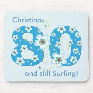 80.o cumpleaños todavía que practica surf el mouse alfombrillas de ratones