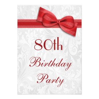 80.o Damasco de la fiesta de cumpleaños y falso ar Invitación