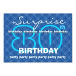 80.o El azul moderno del cumpleaños de la SORPRESA Anuncios