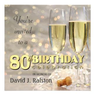 80 o Fiesta de cumpleaños - invitaciones personali