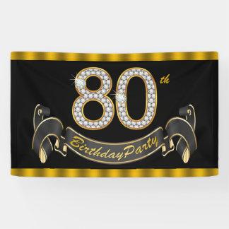 80.o Fiesta de cumpleaños Lona