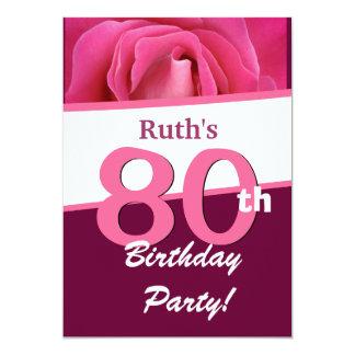 """80.o Fiesta de cumpleaños para su V697 color de Invitación 5"""" X 7"""""""