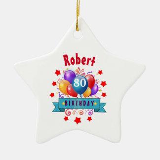 80.o Globos coloridos festivos C01HZ del Adorno Navideño De Cerámica En Forma De Estrella