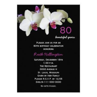 80 o Invitación de la fiesta de cumpleaños --