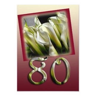 80.o Invitación de la fiesta de cumpleaños - calas