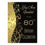 80.o Invitación personalizada de la fiesta de cump