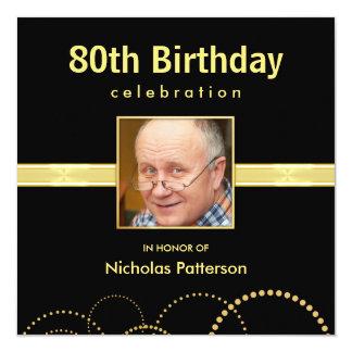 80.o Invitaciones de la fiesta de cumpleaños - Invitación 13,3 Cm X 13,3cm