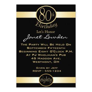 """80.o Invitaciones de la fiesta de cumpleaños Invitación 5"""" X 7"""""""