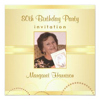 80.o Invitaciones de la fiesta de cumpleaños con Invitación 13,3 Cm X 13,3cm