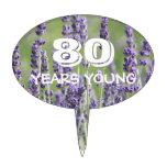 80.o Lavanda del cumpleaños floral Decoraciones De Tartas