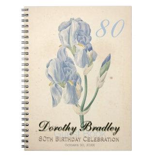 80.o Libro de visitas botánico de los iris de la Spiral Notebooks