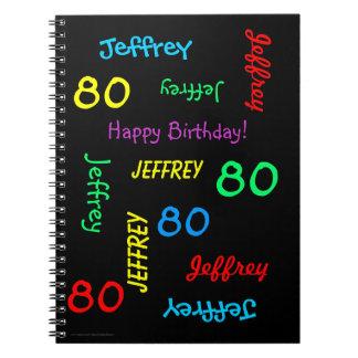 80.o Libro de visitas de la fiesta de cumpleaños, Libreta Espiral