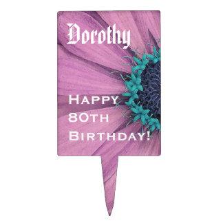 80.o Margarita del cumpleaños o cualquier primero  Decoración Para Tarta