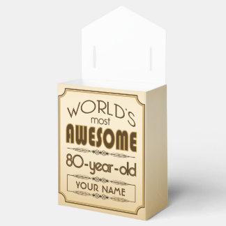 80.o mundo de la celebración del cumpleaños del cajas para regalos