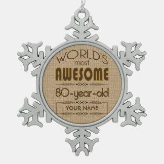 80 o Mundo de la celebración del cumpleaños mejor Adorno