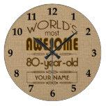 80.o Mundo de la celebración del cumpleaños mejor  Reloj