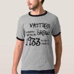 80.o Nombre 1933 del Brew del vintage del regalo Playeras