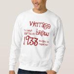 80.o Nombre 1933 del Brew del vintage del regalo Pullover Sudadera