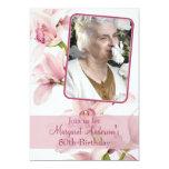 80.o Orquídea rosada de la foto el | de la Invitación Personalizada