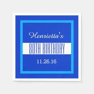 80.o Personalizado V01G del marco del azul real Servilleta Desechable