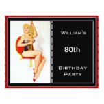 80.o Pin-para arriba rojo para hombre del negro de Anuncios Personalizados