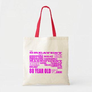 80.o rosa de los cumpleaños de los chicas: Los och Bolsa Tela Barata