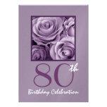80.o Rosas de la púrpura de la lila de la invitaci