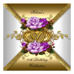 80.o Rosas púrpuras elegantes 3 del oro de la fies
