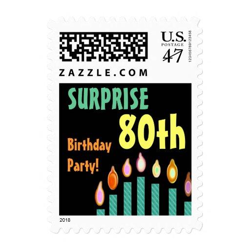 80.o Sello de la fiesta de cumpleaños de la