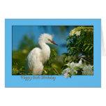 80.o Tarjeta de cumpleaños con el pájaro del Egret