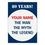 80.o Tarjeta de cumpleaños para los hombres el | l
