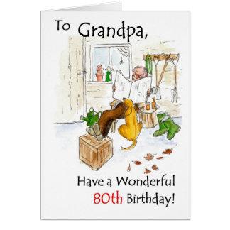 80.o Tarjeta de cumpleaños para un abuelo