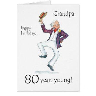 80 o Tarjeta de cumpleaños para un abuelo