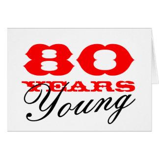 80.o Tarjeta de cumpleaños por 80 años de hombres