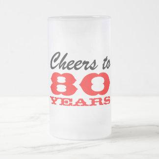 80.o Taza del regalo del vidrio de cerveza del cum