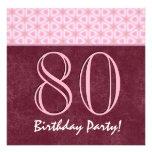 80.o V02 rojo y rosado del cumpleaños o de cualqui Comunicado Personal
