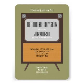 80.o Vintage TV de la invitación de la fiesta de c