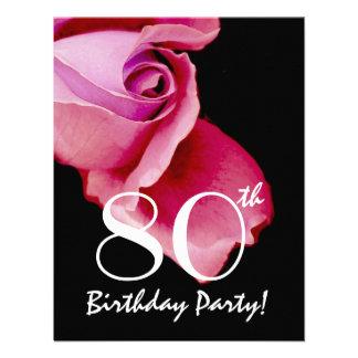 80 o Y321 color de rosa púrpura y azul de la plant Invitación Personalizada