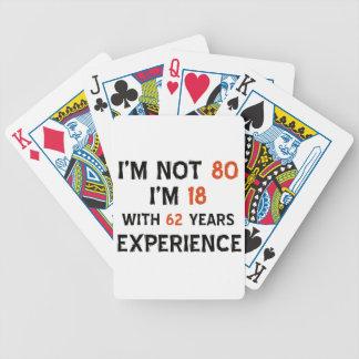 80.os diseños del cumpleaños baraja de cartas