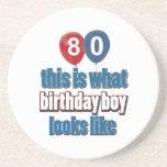80.os diseños del cumpleaños del año posavasos diseño
