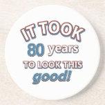 80.os diseños del cumpleaños del año posavasos para bebidas