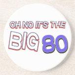 80.os diseños del cumpleaños posavasos personalizados