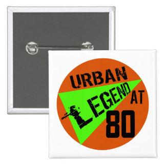 80 os regalos de cumpleaños del urban legend pins