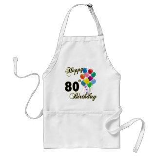 80.os regalos de cumpleaños y ropa felices del cum delantal
