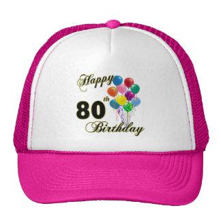 80.os regalos de cumpleaños y ropa felices del cum gorros