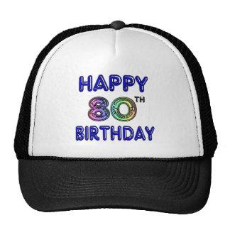80.os regalos de cumpleaños y ropa felices del cum gorras