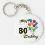 80.os regalos de cumpleaños y ropa felices del cum llaveros personalizados