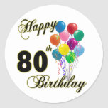 80.os regalos de cumpleaños y ropa felices del cum pegatinas
