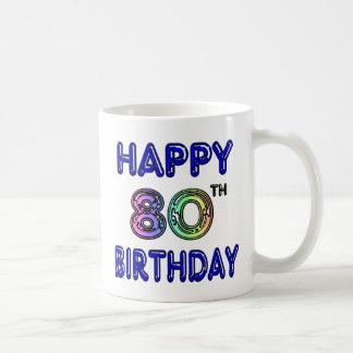 80.os regalos de cumpleaños y ropa felices del taza de café