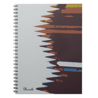 80 page blank sketch book, abstract pencil cover notebook